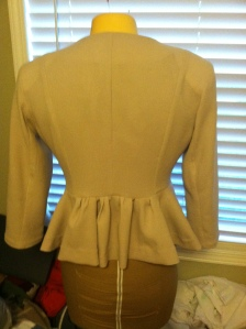 peplum jacket back