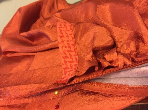 sewing into neckband